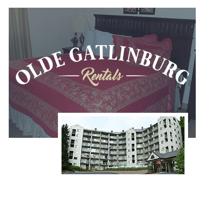 Olde Gatlinburg Place logo and exterior photo