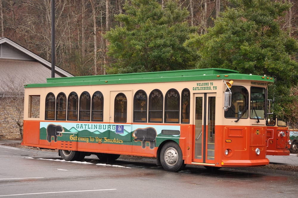 Gatlinburg trolley
